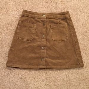 Juniors Arizona Jeans Co. Corduroy Button Skirt